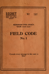 Collection of secret codes