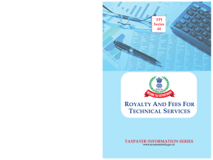 Royalty And Fees for Technical Services