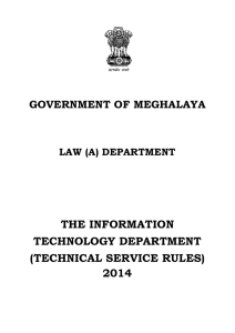 the information technology department (technical service rules) 2014