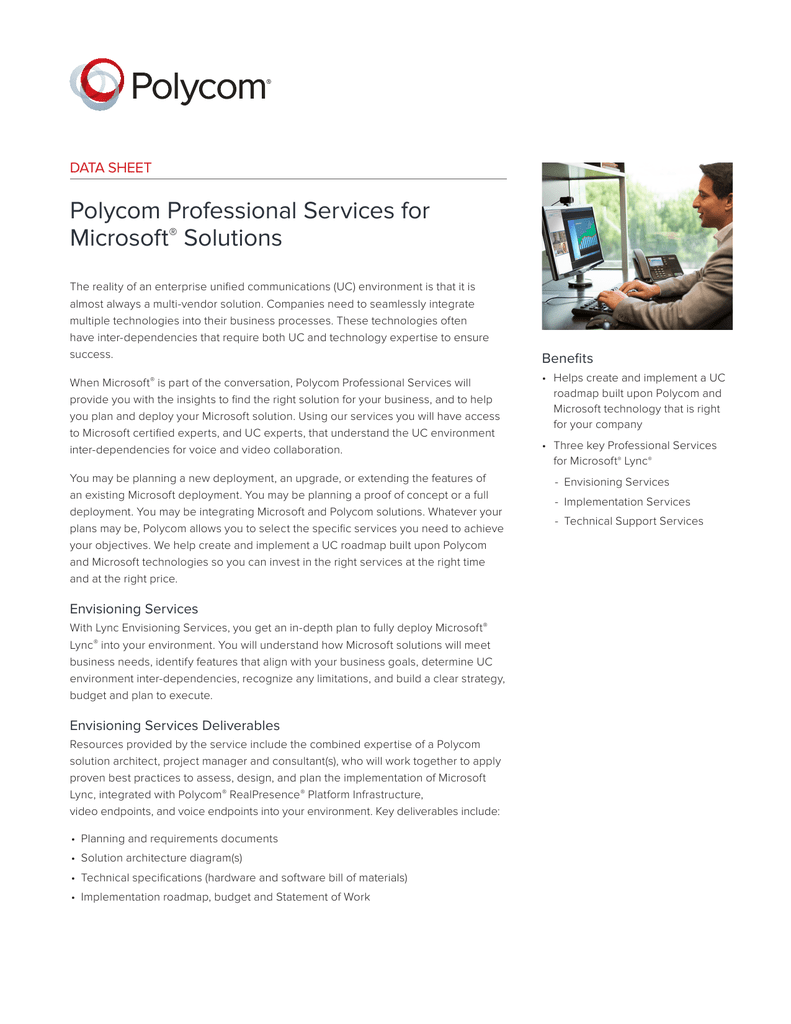 Polycom Professional Services for Microsoft® Solutions