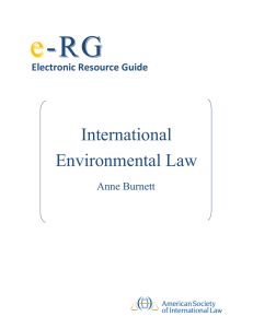 International Environmental Law - American Society of International