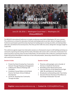 2016 RESULTS International Conference Flyer