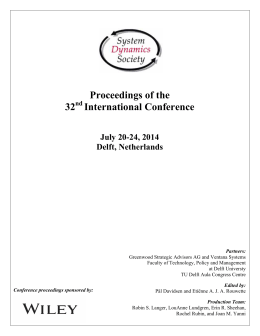 Proceedings of the 32 International Conference