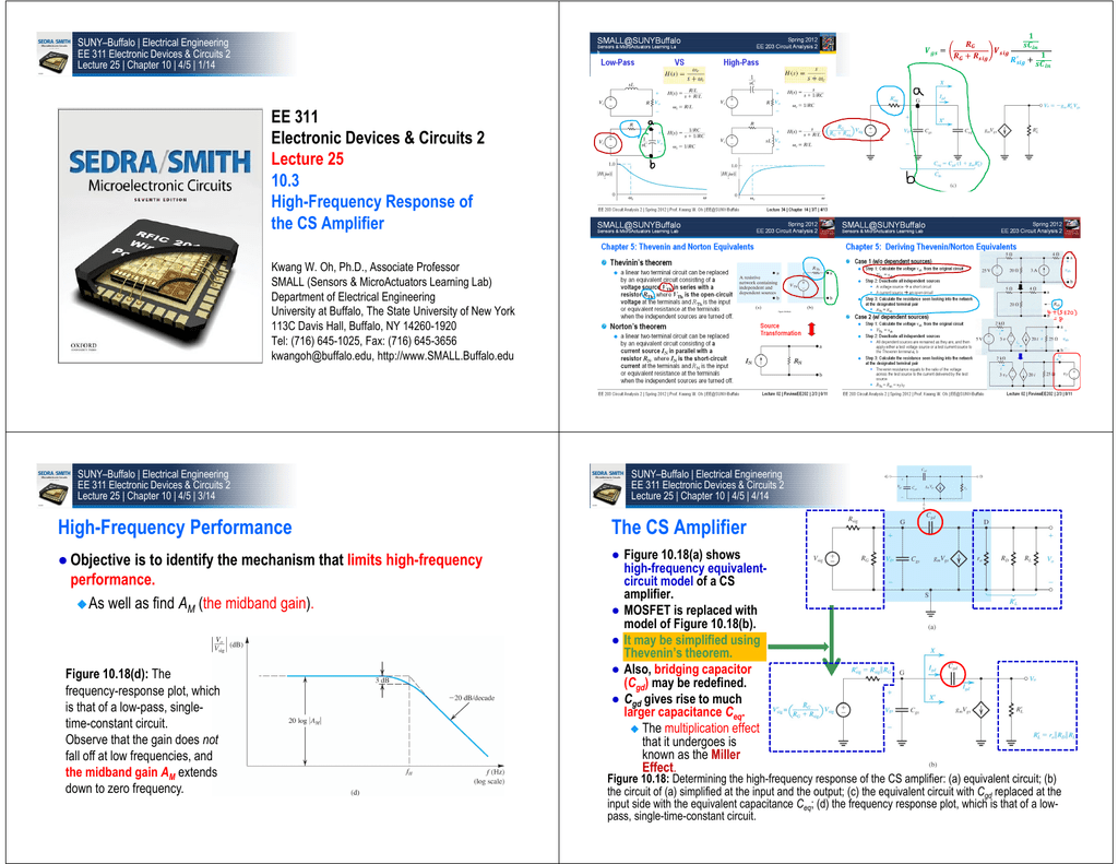 High Frequency Performance The Cs Amplifier Suny Circuits