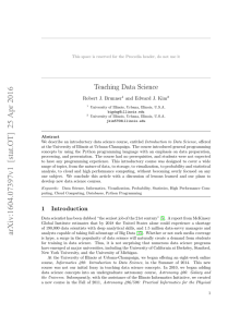Teaching Data Science
