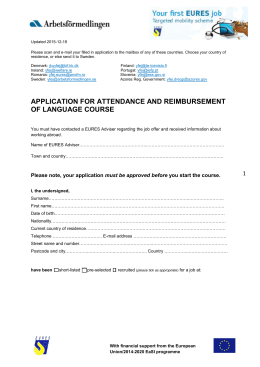 Application for attendance and reimbursement of a language course