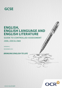 english, english language and english literature