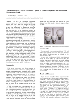 The Introduction of Compact Fluorescent Lights (CFLs)
