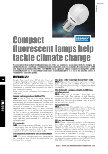 Compact fluorescent lamps help tackle climate change