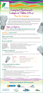 Compact Fluorescent Lamps or Tubes (CFLs)