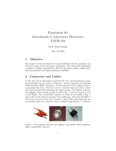 Experiment #1 Introduction to Laboratory Electronics ENPH 259