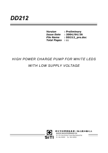 high power charge pump for white leds with low supply voltage
