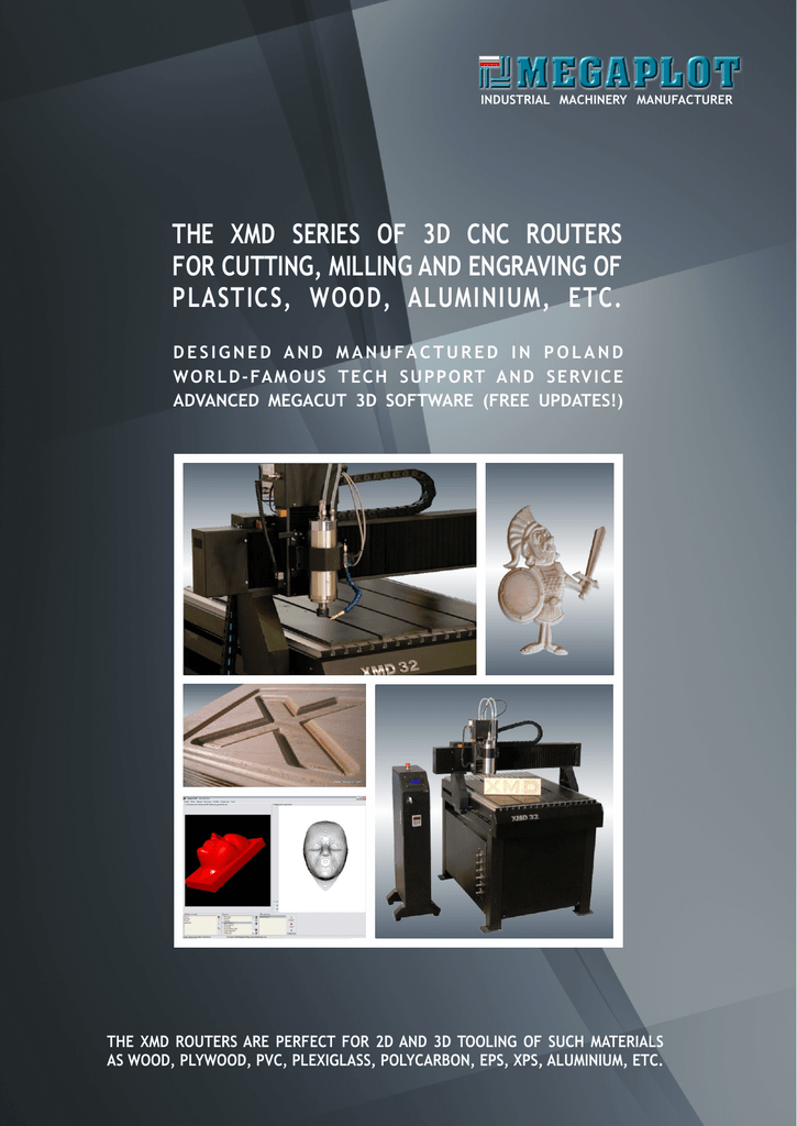 2013 XMD 3D CNC Routers brochure is ready for