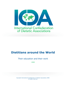 Dietitians around the World - International Confederation of Dietetic