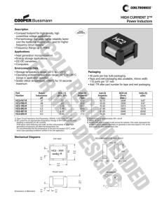 HC2-6R0-R Datasheet - West Florida Components