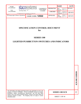 Specification control document