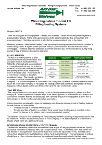 Water Regulations Tutorial # 3 Filling Heating Systems