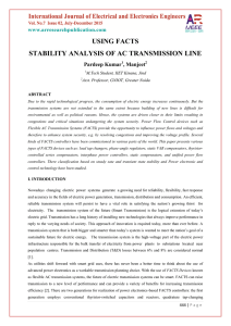using facts stability analysis of ac transmission line