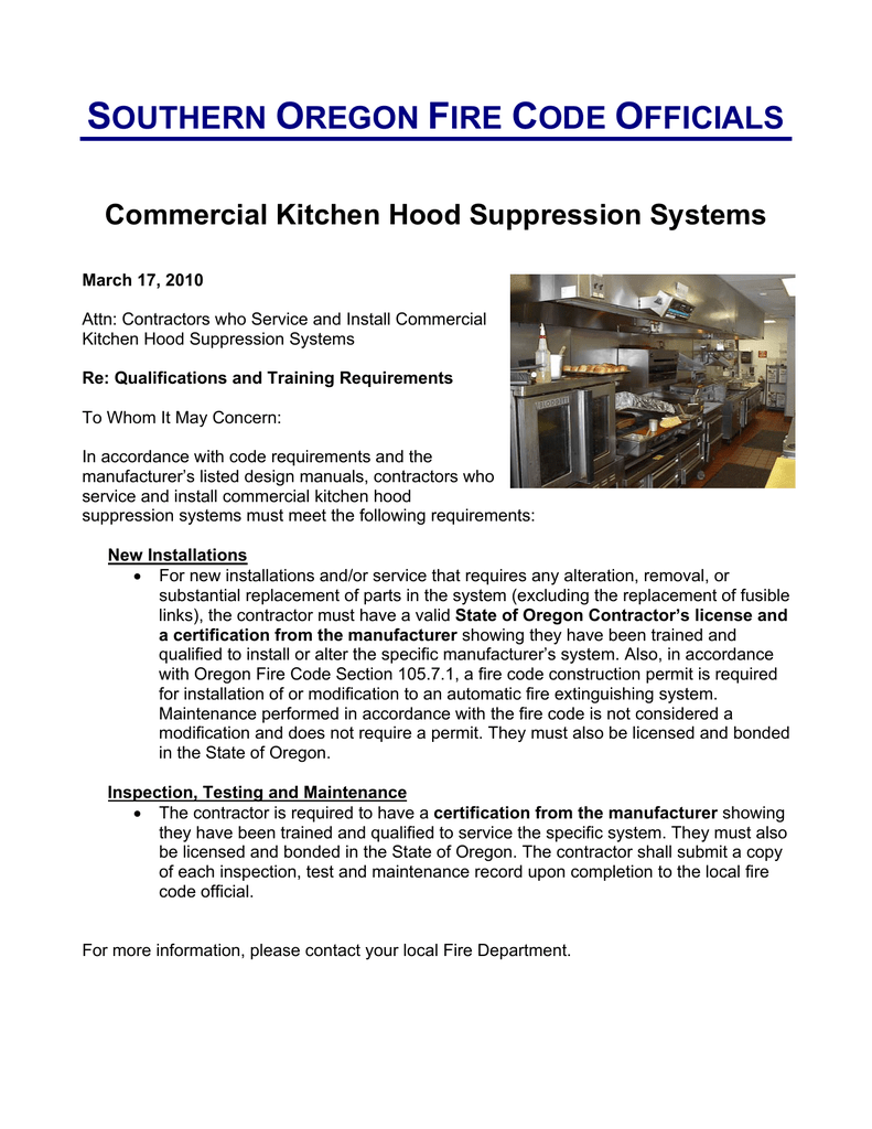 Commercial Kitchen Hood Suppression Systems