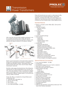 Transmission Power Transformers