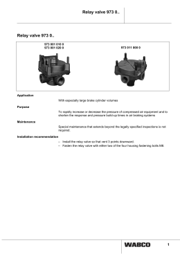 Relay valve 973 0.. - inform.wabco