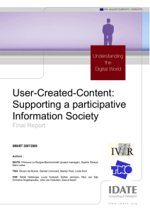 User-Created-Content: Supporting a participative Information Society