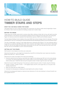 How-To-build guide Timber STairS and STepS