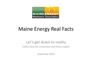Maine Energy Real Facts - Maine Energy Marketers Association