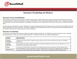 Insurance Terminology for Brokers Insurance Terms and Definitions