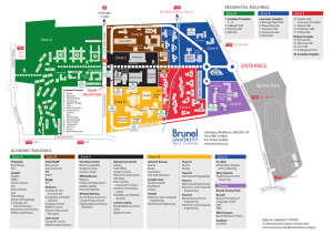 Brunel University campus map