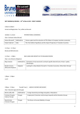 programme and registration