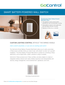 smart battery-powered wall switch