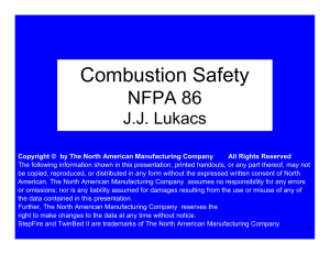 Kilns and NFPA Compliance Update