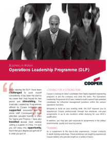 Operations Leadership Programme (OLP)
