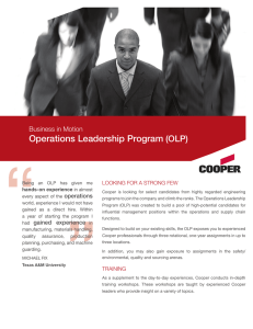 Operations Leadership Program (OLP)