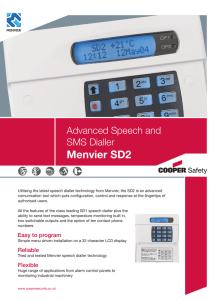 SEC SD2 Speech Dialler