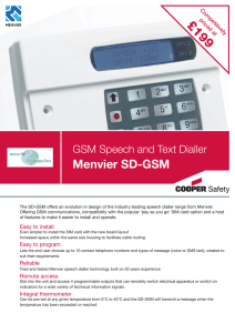 Menvier SD-GSM - Security Supplies
