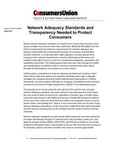 Network Adequacy Standards and