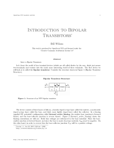 Introduction to Bipolar Transistors