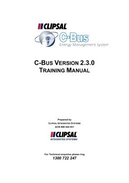 C bus-basic-training-manual-volume-2-clipsal.
