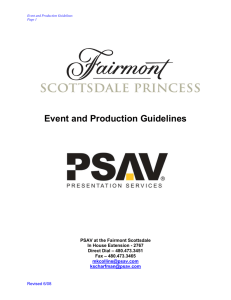 Event and Production Guidelines