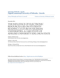 THE INFLUENCE OF ELECTRONIC RESOURCES USE ON