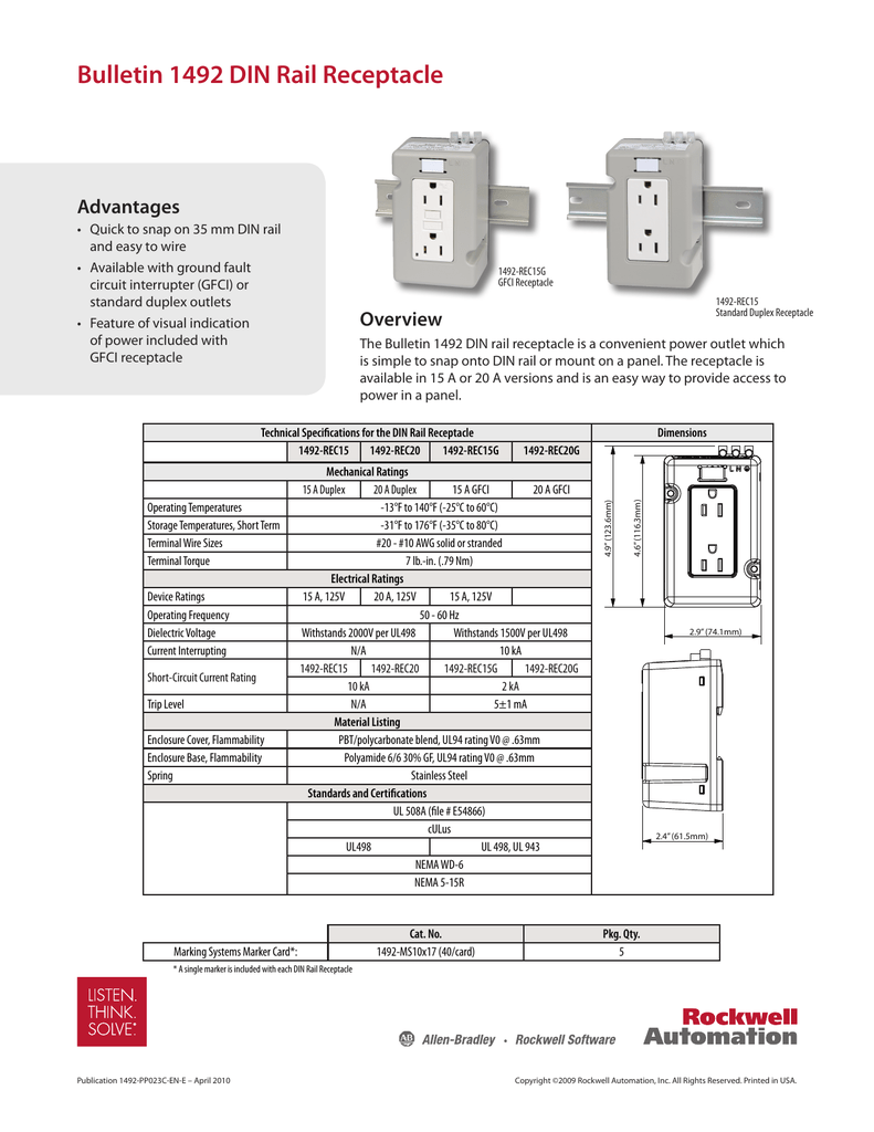 Bulletin 1492 Din Rail Receptacle Ground Fault Circuit Interrupter Gfci How To Wire A 018571645 1 B45b5b86a6ce6a472a2af8f8cd3ae34a
