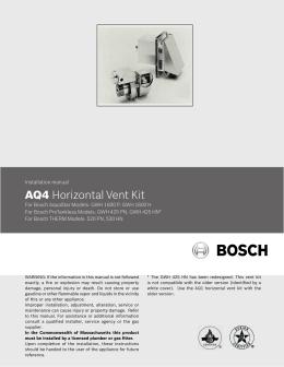 AQ4 Horizontal Vent Kit - Pro Water Heater Supply