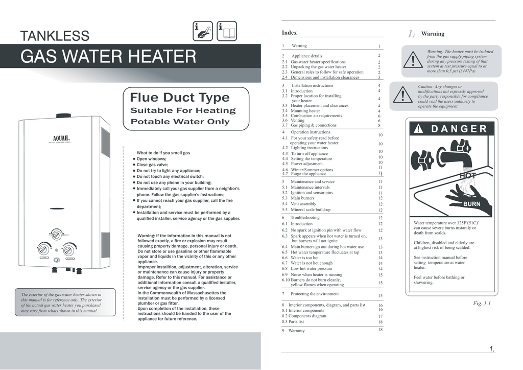 to - aquah tankless water heater