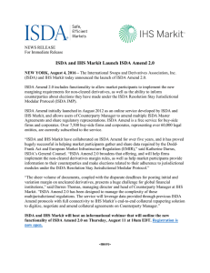 ISDA and IHS Markit Launch ISDA Amend 2.0