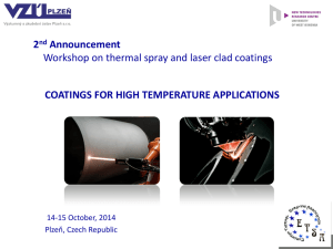 Coatings for high temperature applications