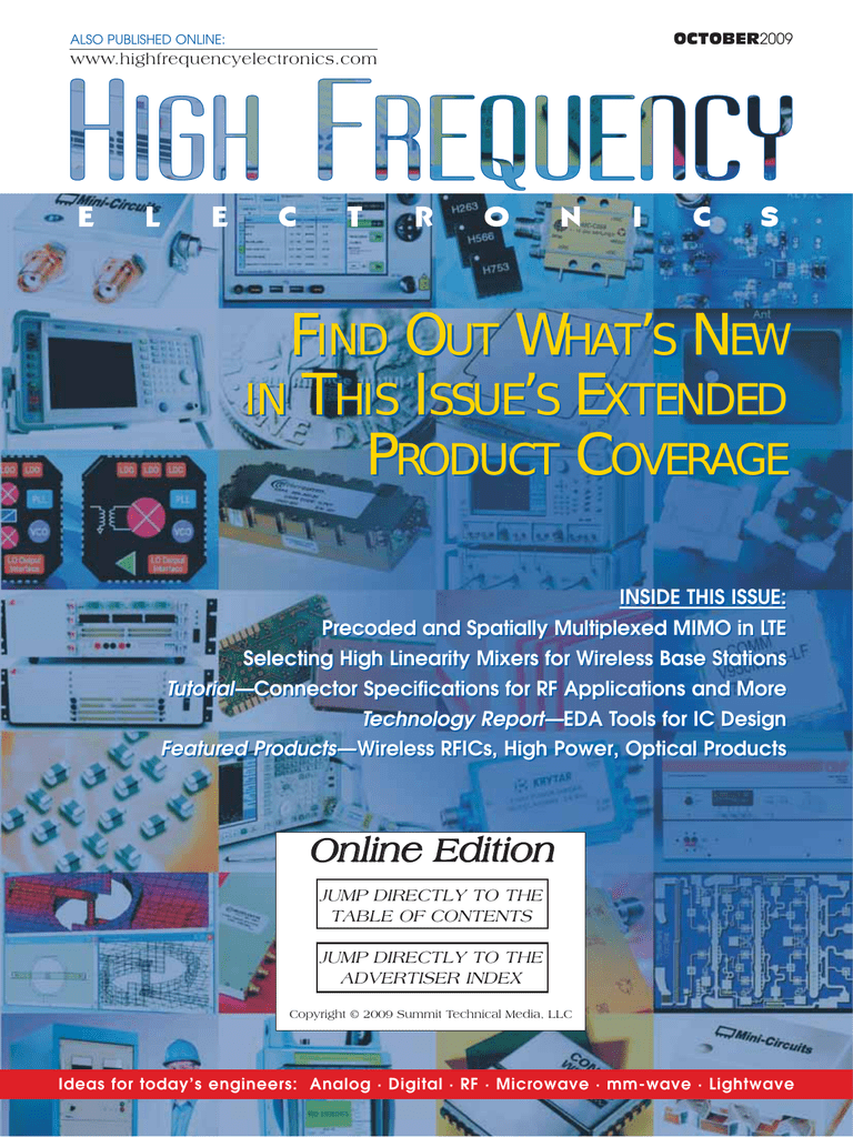 High Frequency Electronics — October 2009 Online Edition