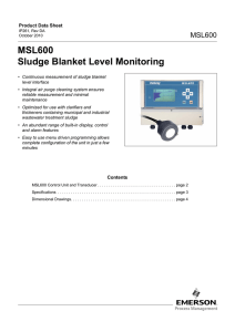 MSL600 Sludge Blanket Level Monitoring