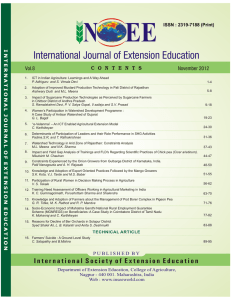 International Journal of Extension Education